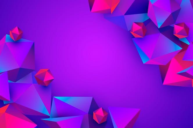 Fundo poligonal realista