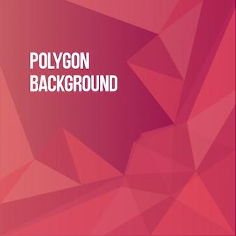 Fundo poligonal red