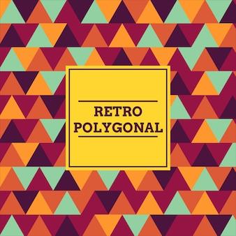 Fundo poligonal retrô
