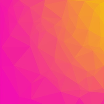 Fundo poligonal rosa e laranja