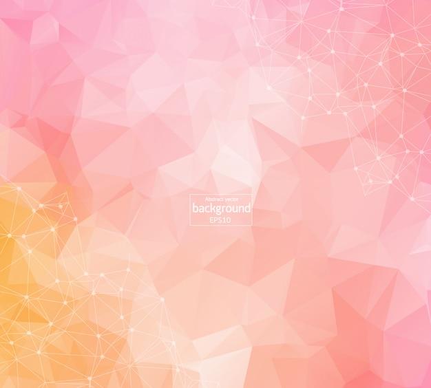Fundo poligonal rosa escuro geométrico