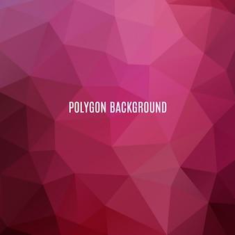 Fundo poligonal rosa