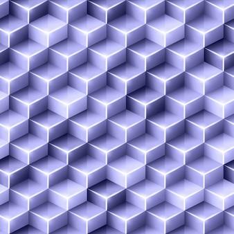 Fundo poligonal roxo com cubos