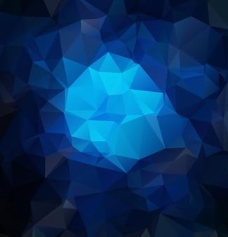 Fundo poligonal texturizado abstrato azul escuro.