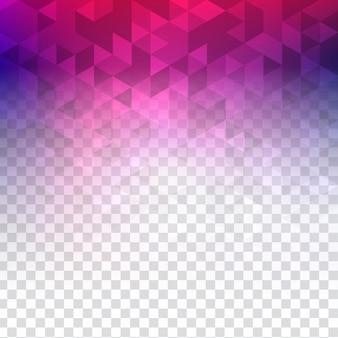 Fundo poligonal transparente colorido abstrato