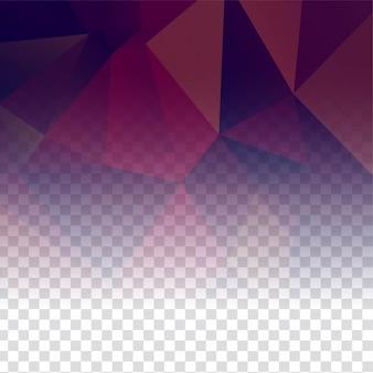 Fundo poligonal transparente elegante abstrato
