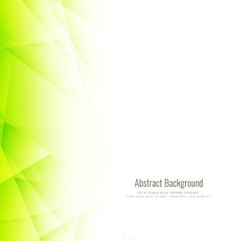 Fundo poligonal verde brilhante abstrato