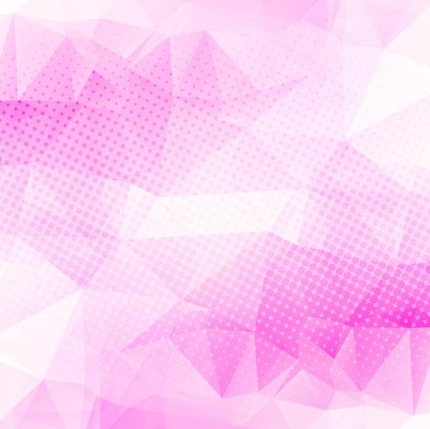 Fundo polígono rosa