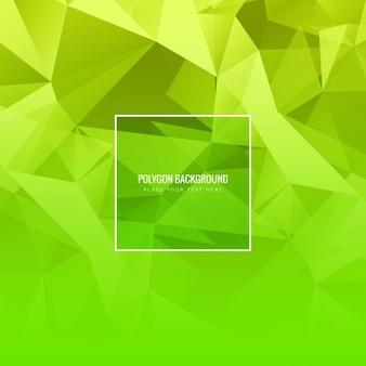 Fundo polígono verde