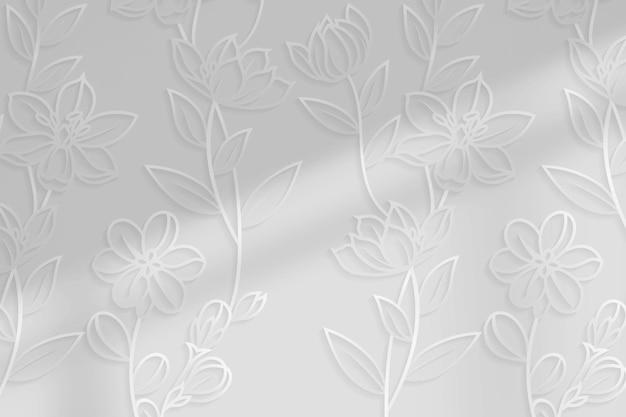 Fundo prateado com padrão floral