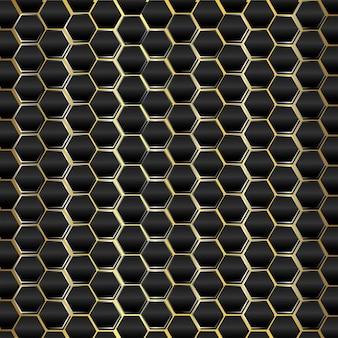 Fundo prateado luxuoso preto e dourado