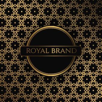 Fundo premium de luxo com cor de ouro