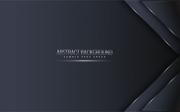 Fundo premium preto com luxo escuro. linhas de platina prata luxo vetor.