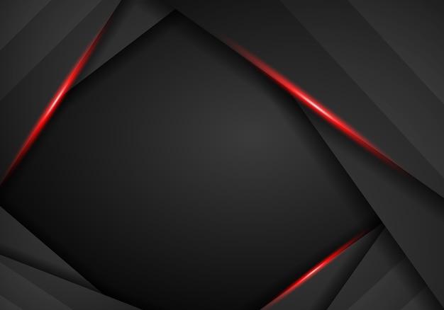 Fundo preto abstrato com moldura vermelha