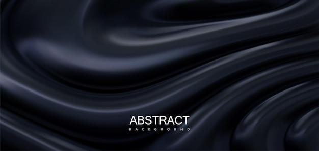 Fundo preto abstrato com ondulações