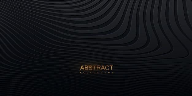 Fundo preto abstrato com padrão ondulado