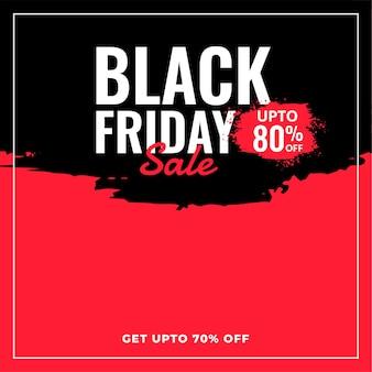 Fundo preto abstrato de venda e desconto de sexta-feira