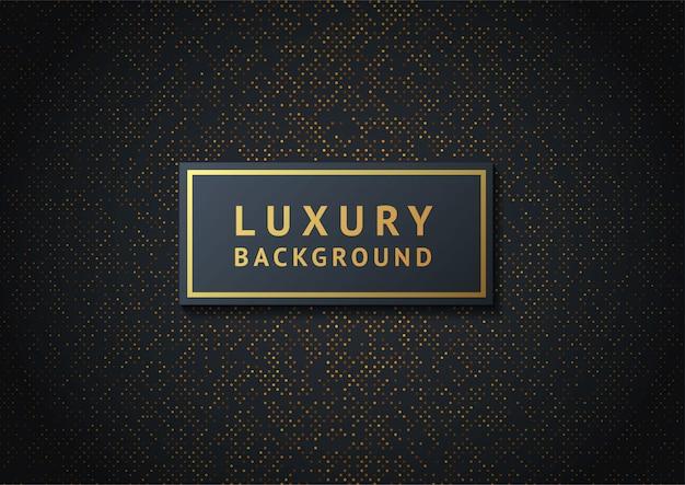 Fundo preto abstrato texturizado com padrão de meio-tom dourado radial