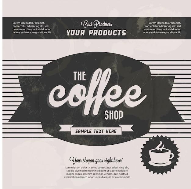 Fundo preto café do vintage