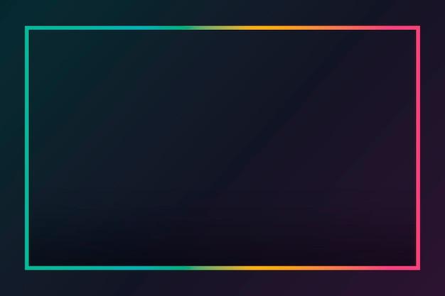 Fundo preto com borda gradiente