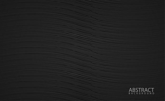 Fundo preto com linha ondulada grained