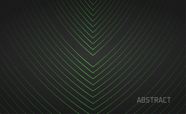 Fundo preto com linha verde brilhante