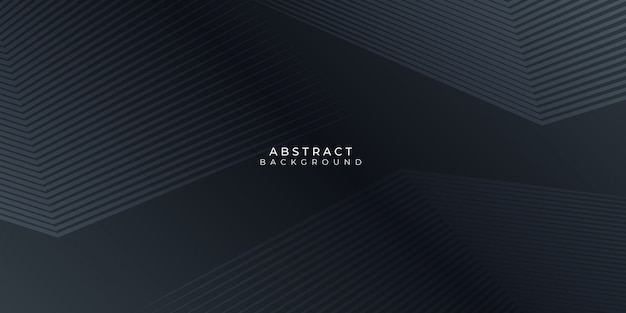 Fundo preto com linhas abstratas stipes modernos