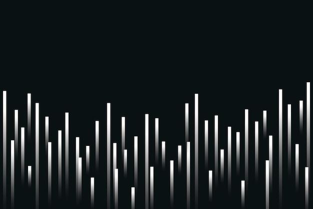Fundo preto com tecnologia de equalizador musical e onda sonora digital branca