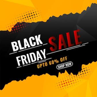 Fundo preto da promoção de venda sexta-feira