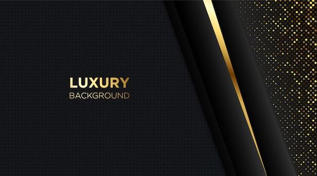 Fundo preto de luxo com linha dourada