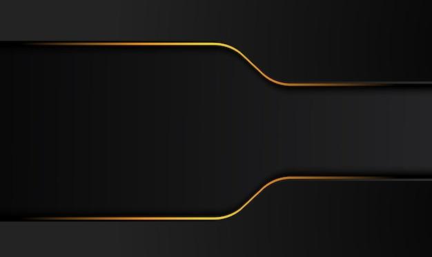 Fundo preto de tecnologia com ilustração de design de contraste