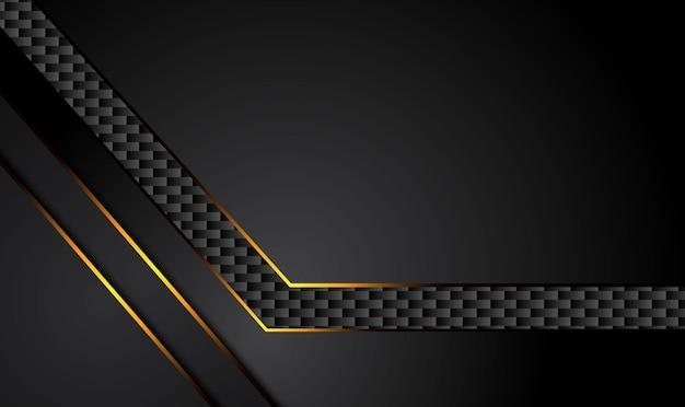Fundo preto de tecnologia com listras amarelas de contraste.