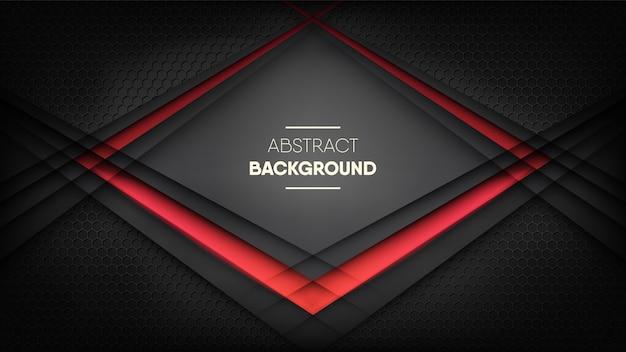 Fundo preto digital futurista, com luz de néon vermelha.