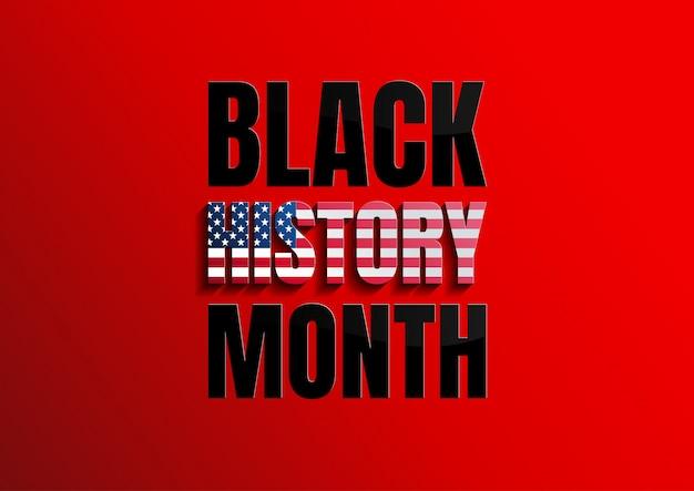 Fundo preto do mês da história