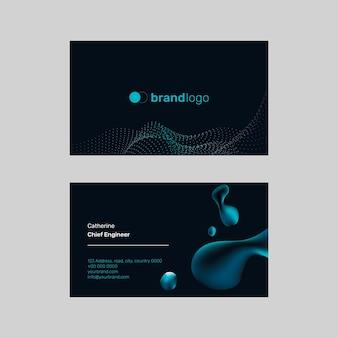 Fundo preto do modelo de cartão de nome de tecnologia