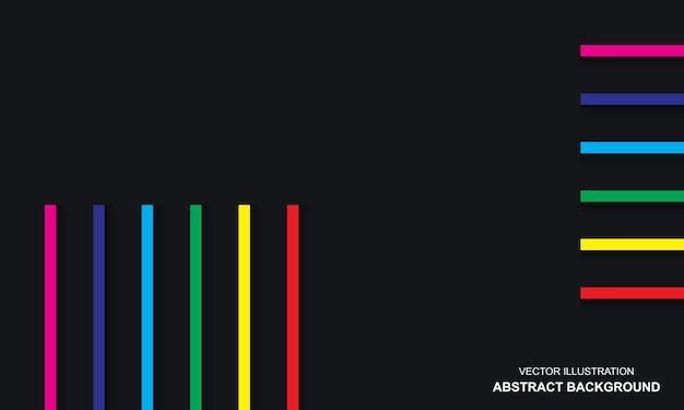 Fundo preto dop com design moderno na cor do arco-íris