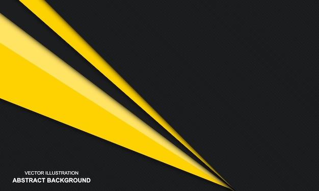 Fundo preto e amarelo abstrato moderno