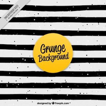 Fundo preto e branco do grunge listrado