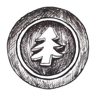 Fundo preto e branco dos elementos de natal