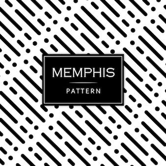 Fundo preto e branco moderno memphis