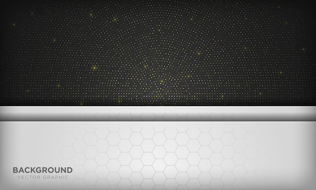 Fundo preto e branco no elemento de pontos de brilho cintilante