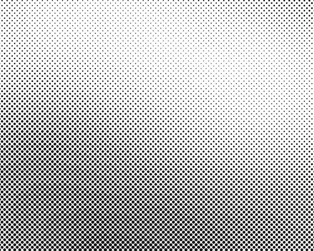 Fundo preto e branco pontilhado de meio-tom abstrato