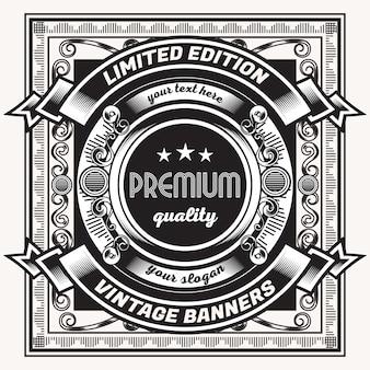 Fundo preto e branco premium Vetor Premium