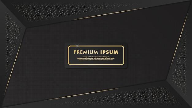 Fundo preto e dourado elegante