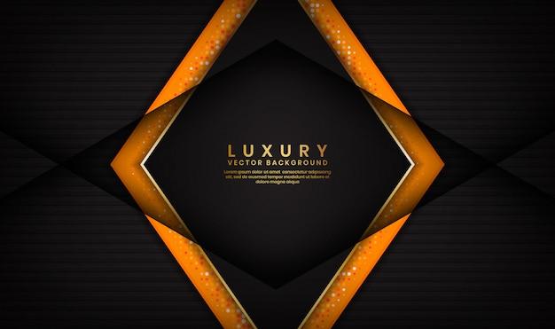 Fundo preto e laranja de luxo abstrato