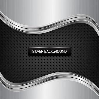 Fundo preto e prata
