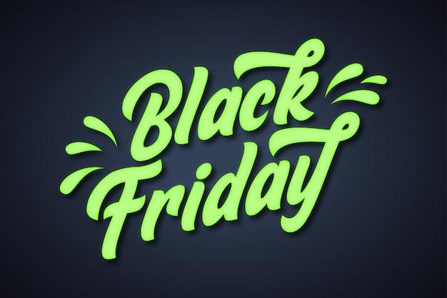 Fundo preto e verde brilhante de sexta-feira