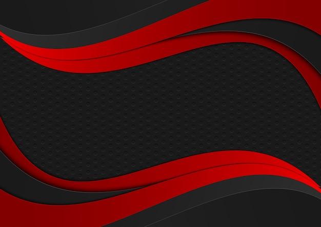 Fundo preto e vermelho vetor abstrato