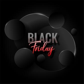 Fundo preto elegante abstrato de sexta-feira