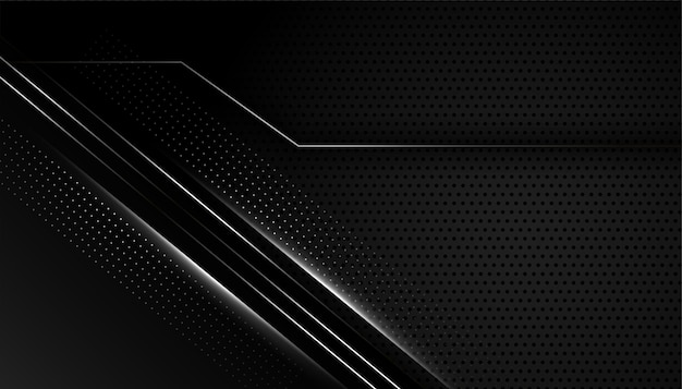 Fundo preto escuro com linhas prateadas